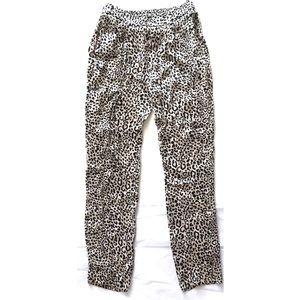 Zara Woman Silky Animal Print Joggers Pants